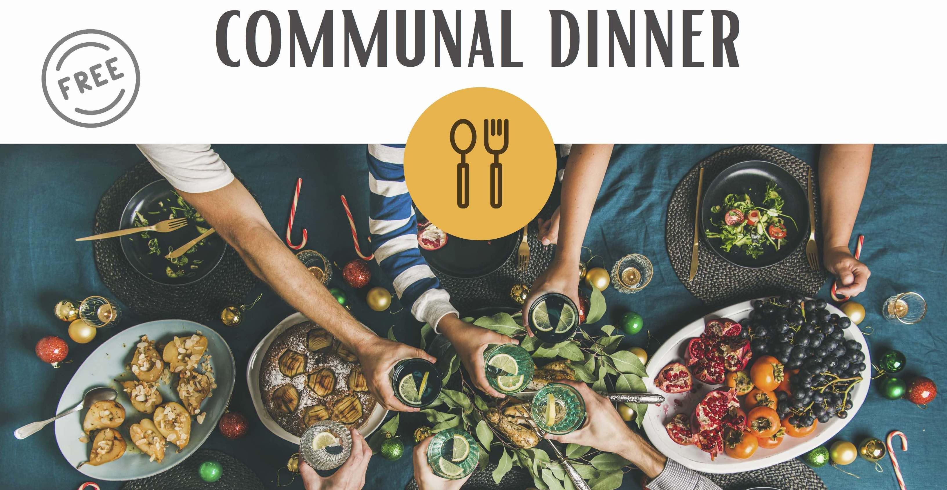 Gemeinschaftliche Abendessen mit Geflüchteten