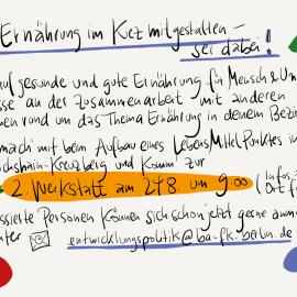 Jetzt anmelden! 2. Werkstatt für den Aufbau eines LMP in Friedrichshain-Kreuzberg   24.08.   9:00-12:30