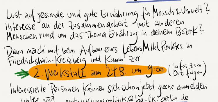 Jetzt anmelden! 2. Werkstatt für den Aufbau eines LMP in Friedrichshain-Kreuzberg | 24.08. | 9:00-12:30