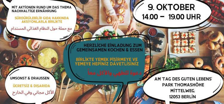 Gemeinsames Kochen und Essen am Tag des Guten Lebens | 9.10. | 14:00-19:00